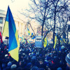 Беркут оттесняет активистов в сторону Кловского спуска