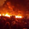 На Грушевского непонятная активность — шины на некоторое время потушили, а потом зажгли снова (ОнлайнТрансляция)