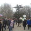 На митинг в поддержку России в Симферополе вышло около 150 человек старшего возраста (ФОТО)