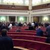 Все коммунисты и часть «регионалов» покинули сессионный зал во время выступления Яценюка