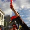 Протестующие начали штурм Дворца Украины, где проходит концерт Ани Лорак