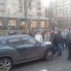 Улицу Крещатик в Киеве перекрыли митингующие