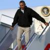 Казус президента: Обама чуть не свалился с трапа самолета (ВИДЕО)