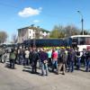 Возле Киево-Печерской Лавры возникла потасовка между Автомайданом и шахтерами