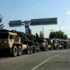 На границе Венгрии с Украиной — колонна военной техники (ФОТО)