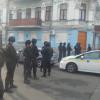 Офис КПУ, в котором размещен люстрационный комитет и «Канцелярская сотня» окружили правоохранители (ФОТО)