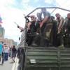 В центре Донецка вооруженные до зубов чечены разъезжают в Камазах (ФОТОФАКТ)