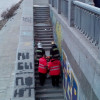 В Киеве обрушилась часть недостроенного моста. Пострадал человек
