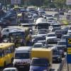 В Киеве уменшилось количество автомобилей на дорогах