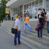 В Северодонецке три человека провели «молчаливый» митинг с требованием отставки Москаля