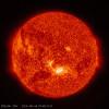 В NASA показали яркую вспышку на поверхности Солнца