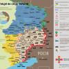 Боевики плотным огнем накрывают участок Светлодарск-Марьинка — карта АТО