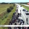 Из-за огромного количества мигрантов перекрыто движение на автобане между Данией и Германией (ВИДЕО)