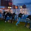 «Свободовцы» снесли строительный забор возле метро «Позняки»