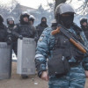 В центре Киева вооруженный «беркут» отрабатывает силовой разгон Майдана — СМИ
