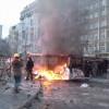 На Грушевского вновь перекрыли движение, внутренние войска вернулись на свои позиции неподалеку от баррикад