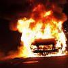 В Днепропетровске за ночь сгорело 18 маршруток и трехэтажный дом