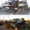 Пограничники отремонтировали и перекрасили захваченный у боевиков БТР (ФОТО)