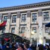 В интернете появилось видео митинга под посольством РФ в Киеве (ВИДЕО)