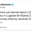 В Луганске террористы убили почетного консула Литвы
