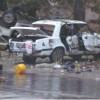 В Шостке под носом у милиции взорвали два служебных авто