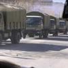 В Луганске прошла колонна военных грузовиков на Станицу Луганскую