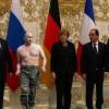 В Интернете появились издевки над Путиным и Лавровым на переговорах в Минске (ВИДЕО)