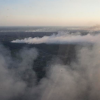 Пожар в районе Чернобыля (ВИДЕО с вертолета)