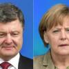 Порошенко сообщил Меркель об эскалации ситуации в Донбассе