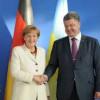 Порошенко и Меркель скоординировали позиции в преддверии встречи в «нормандском формате»