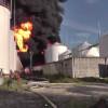 На нефтебазе под Киевом до сих пор горит резервуар с бензином