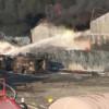 Пожар на нефтебазе под Киевом надеются ликвидировать до конца дня среды