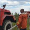 Спасатели третьи сутки борются с последствиями возгорания травы в Зоне отчуждения