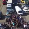 Как блокировали Крым. Появилось видео с беспилотника (ВИДЕО)